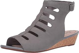 Clarks 女式 Abigail Sing 坡跟凉鞋