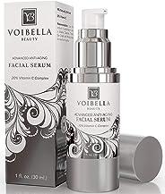 Voibella 高级*维生素 C 面部精华素 - 适合女性的*佳天然抗皱面部精华: 保湿、平滑、紧致、紧实皮肤,缩小毛孔并**(附赠电子书和咨询)