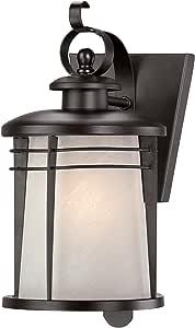 Westinghouse 6674100 Senecaville 单灯外壁灯,青铜表面,钢制,白色雪花玻璃 青铜色 1包 6674100