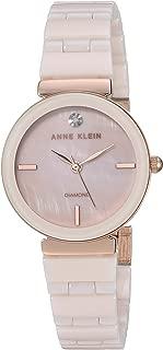 Anne Klein 女士正品钻石表盘陶瓷手链手表