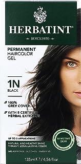 Herbatint Permanent 持久染头膏,1N 黑色,4.56盎司(约129.27克),135毫升