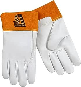 Steiner TIG 手套,珍珠粒面山羊皮无衬里,2 英寸生锈袖口 小号 0228S