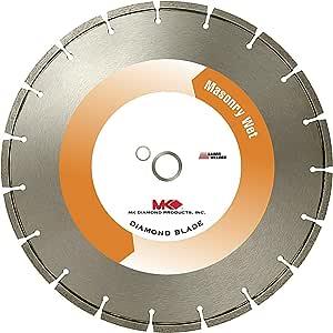 MK Diamond MK-10P 高级砖石湿切割分级边缘刀片 适用于块 20 英寸 128793