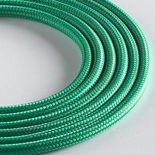 Klartext - 光圆形织物电缆用于照明,3 x 0.75 毫米,草*,3 米警告:包括接地线! *大防震*!