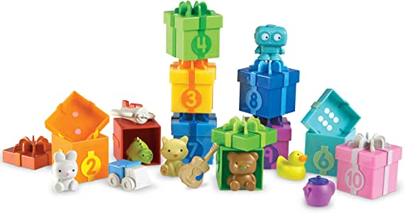 Learning Resources 数惊喜派对,精细电机,数数和分类玩具,适合 3 岁以上儿童