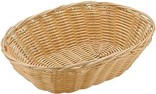 Paderno World Cuisine 5-1/8-Inch Diameter by 7-1/8-Inch Long Oval Polyrattan Bread Basket