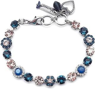 Mariana Ocean 施华洛世奇水晶银色手镯深蓝色和桃花马赛克 2142