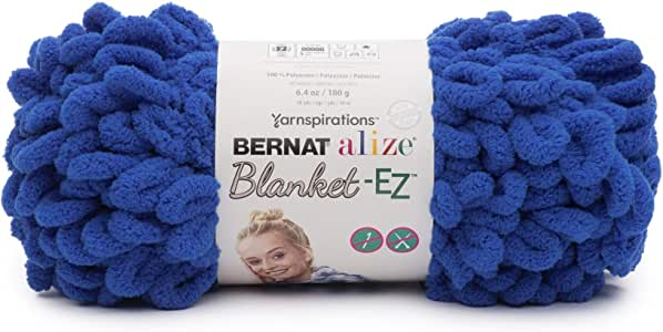 Bernat Alize 毛毯 EZ 纱线 亮蓝色 16103737010