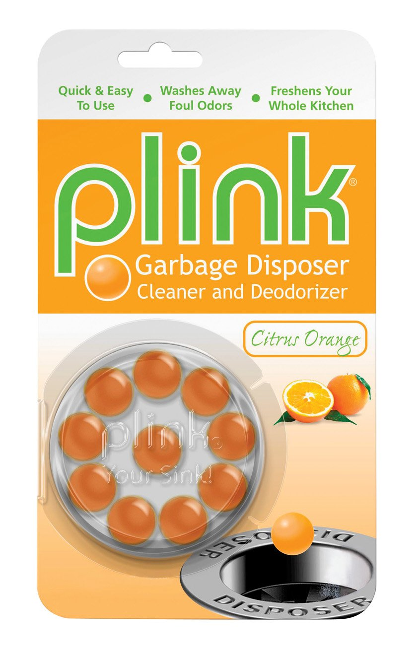 Plink Garbage Disposer Cleaner and Deodorizer -Economical Cleanser Created by Plumbers Citrus Orange