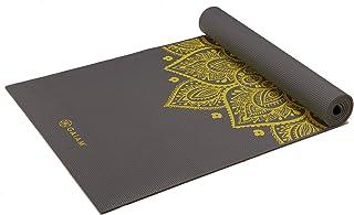 "Gaiam 瑜伽垫 - 优质 6mm 印花超厚练习和健身垫,适合各种类型的瑜伽、普拉提和地板锻炼(68"" x 24"" x 6mm 厚)"