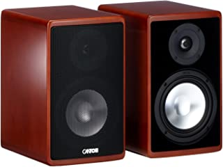 Canton Ergo 620 2聲道低音反射式書架音箱 (70/130 W, 立式 櫻桃色 (一對)