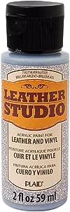 Leather Studio 皮革漆 (2 盎司),71411 白色 闪光银 71427
