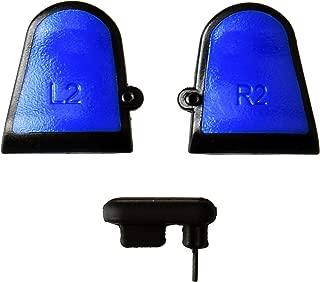 Gam3Gear 3 合 1 可调节 LR2 触发器,适用于 PS4 Dualshock 4 控制器 蓝色