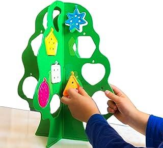 Skoolzy 学龄前学习数玩具 - 猴子树颜色分类,形状分类和数字拼图套装,精细运动技能玩具 - 2-7 岁儿童*玩具 - 配套幼儿游戏