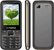 价格实惠的功能 Phone V Mobile D2 2.4 英寸双卡双待机 1200mAh 电池 0.08MP 像素 RAM32MB+ROM64MB 支持播放器 手电筒蓝牙 2.0(黑色)