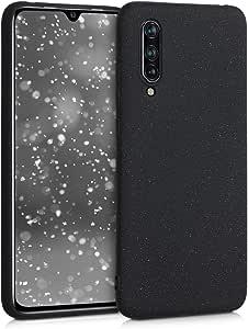 kwmobile TPU 硅胶保护套,适用于 Xiaomi Mi 9 Lite - 柔软弹性减震保护手机套 - 薰衣草色51367.01_m001472 Glitter Uniform black matte