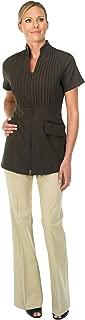 Canyon Rose Esthetician's Tuxedo Front Jacket, Brown, Large