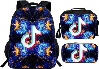 T-Ik To-K 背包 16 英寸(约 40.6 厘米)书包书包和午餐盒套装 适合男孩女孩儿童青少年
