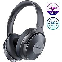 Mpow 主动降噪耳机,头戴式蓝牙耳机 H17 快速充电,ANC 耳机带软质真蛋白质耳垫,高保真立体声声音,30 小时播放电视/旅行