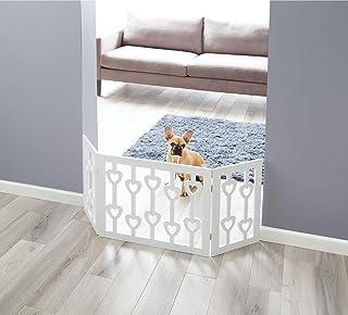 室内/室外实木心独立式可折叠可调节3段式宠物门