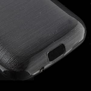 JUJEO Black Brushed TPU Gel Case for Samsung Galaxy Young 2 SM-G130 - Skin - Non-Retail Packaging - Black