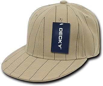 decky 卡其色针条纹修身棒球帽