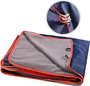 REDCAMP 户外体育场毛毯带防水背衬,柔软保暖夹棉羊毛和大号,防风露营毯 78.7''x59'' rc12039