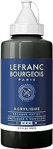 Lefranc 和 Bourgeois 精细亚克力色,高色,良好的不透明性,乳白色均匀质地 Marsschwarz 750ml
