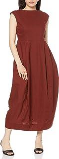 Mila Owin 亚麻混纺茧型连衣裙 09WFO201181 女式