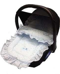 Broderie Anglaise 汽车座椅脚套/休闲脚趾,适用于Maxi COSI Cabrio/Pebble Blue