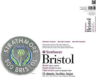 Strathmore 580-82 500 系列布里斯托尔,2 层涂鸦表面,35.56 厘米 x 43.18 厘米,胶带绑定,15 张