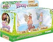 My Fairy Garden Tomy Feen & 朋友扩展套装 – 三个仙女和您的动物伴侣作为奇妙的游戏玩家补充 – 1 个游戏人物套装 4 岁以上