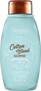Aveeno 艾惟诺 Cotton Blend 不含硫酸盐洗发水,可轻度滋润和舒缓头皮,具有滋养燕麦的温和清洁洗发水,不含对羟基苯甲酸酯和染料,12液体盎司/354毫升
