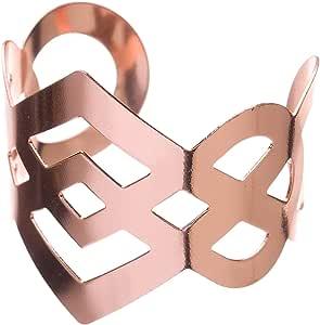 Ella 庆祝金属餐巾套,适用于婚礼,散装餐巾环 玫瑰金 NRIMPERROSE