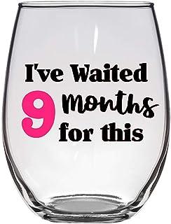 F I've Waited 9 个月 for This 酒杯 - 大号 21 盎司(约 595.3 克) - 孕期礼物,新妈妈,婴儿送礼会礼物