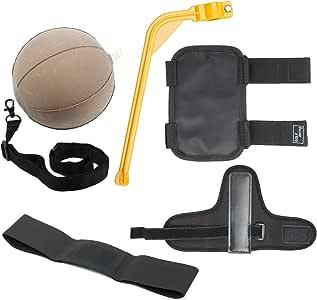 5 件高尔夫训练辅助工具初学者挥杆训练辅助工具 - 挥杆校正位置和手势工具高尔夫挥杆角度辅助器,高尔夫挥杆带,高尔夫冲击球,肘部/手腕姿势辅助器