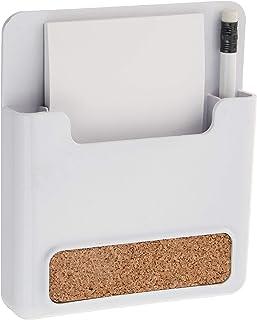 Spectrum 多元化磁性备忘板和铅笔架,带软木条,白色