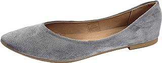 女式经典芭蕾平底鞋舒适灵活闭趾尖头一脚蹬