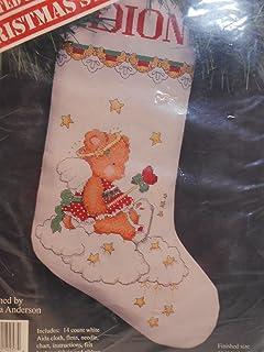 Banar Designs 十字绣泰迪熊天使圣诞袜套装 XCS-257