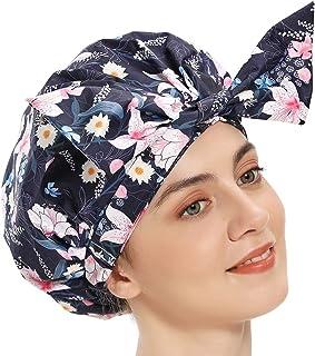 女式浴帽,可爱长发浴帽,头巾浴帽,防水浴帽,超大可重复使用,适用于*的浴帽