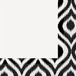 黑白摩洛哥 Ikat 黑色/白色 42772