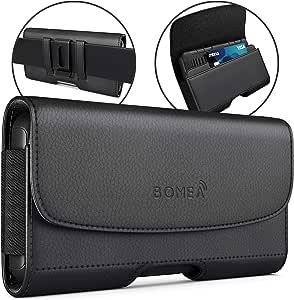 SAMSUNG GALAXY S8PLUS note 8保护套带夹, bomea leather BELT clip CASE 皮套袋支架适用于 GALAXY S8PLUS SAMSUNG Note 8with A 纤薄硬质保护套–内置身份证卡槽钱包式手机壳–黑色 黑色