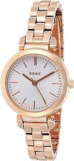 "DKNY 女式""Ellington""石英不锈钢休闲手表,颜色:玫瑰金色调(型号:NY2592)"