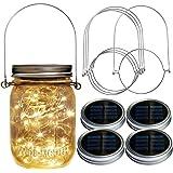 Homeleo Watertight Solar Mason Jar Light Lid Warm White Wide-Mouth