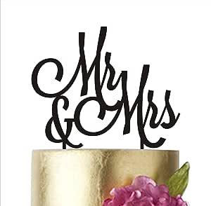 "Mr&Mrs 蛋糕装饰、婚礼蛋糕装饰、Mr 和 Mrs 蛋糕装饰、蛋糕装饰婚礼、蛋糕装饰、蛋糕装饰、蛋糕装饰 银色 width 5"""