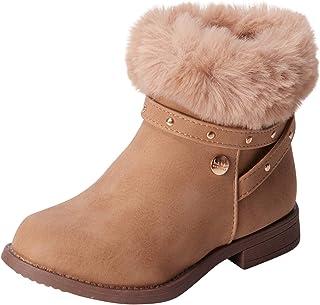 Nicole Miller 女童鞋 - 冬季高帮及踝靴,人造毛领(幼儿)