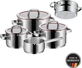 WMF 福腾宝 760066380Function 4带有蒸屉的炊具套装,不锈钢,透明,20cm,5件