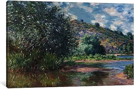 iCanvasART 1053-1PC3-12x8 Paysage a Port-Villez 1885 Canvas Print by Claude Monet, 0.75 x 12 x 8-Inch