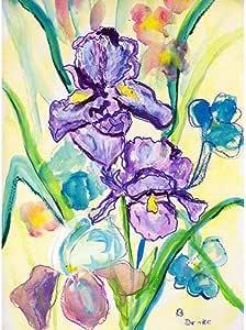 "Betsy Drake FL942 Two Irises Flag 多种颜色 12.5"" x18"" FL942"