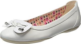 Geox 女士 Charlene1 芭蕾平底鞋 白色 34 M EU